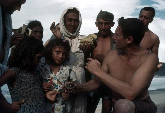 Moradores da Vila de Ponta Negra ainda vendiam lagostas na praia